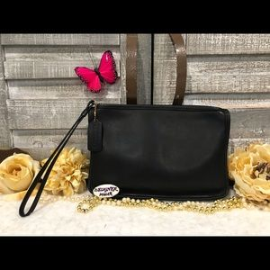 COACH Vintage Black Leather Clutch 9972 RARE!